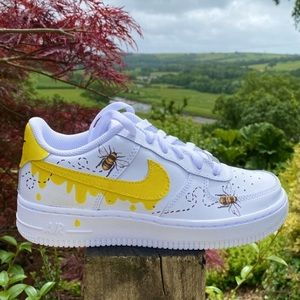 Honey Bee Custom Air Force 1's